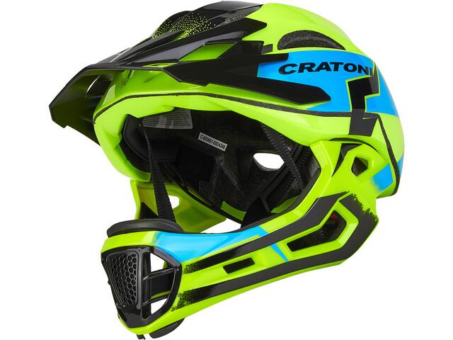 Cratoni C-Maniac Pro Casco MTB, amarillo/azul